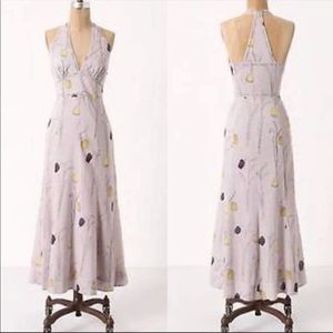 Anthropologie Spring Bulbs Midi Cotton Voile Dress